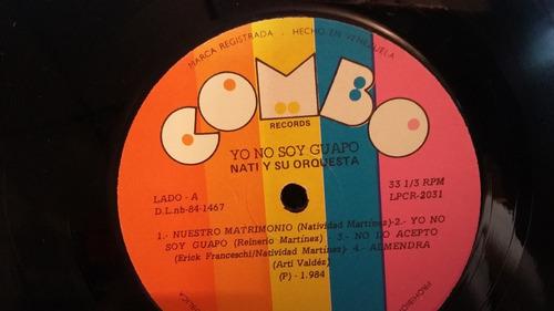 nati y su orquesta yo no soy guapo lp vinilo salsa