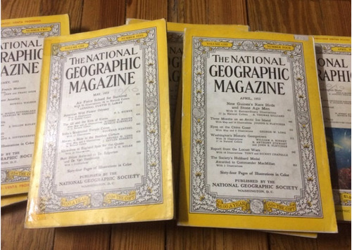 national geographic coleccionistas revista antigua lote