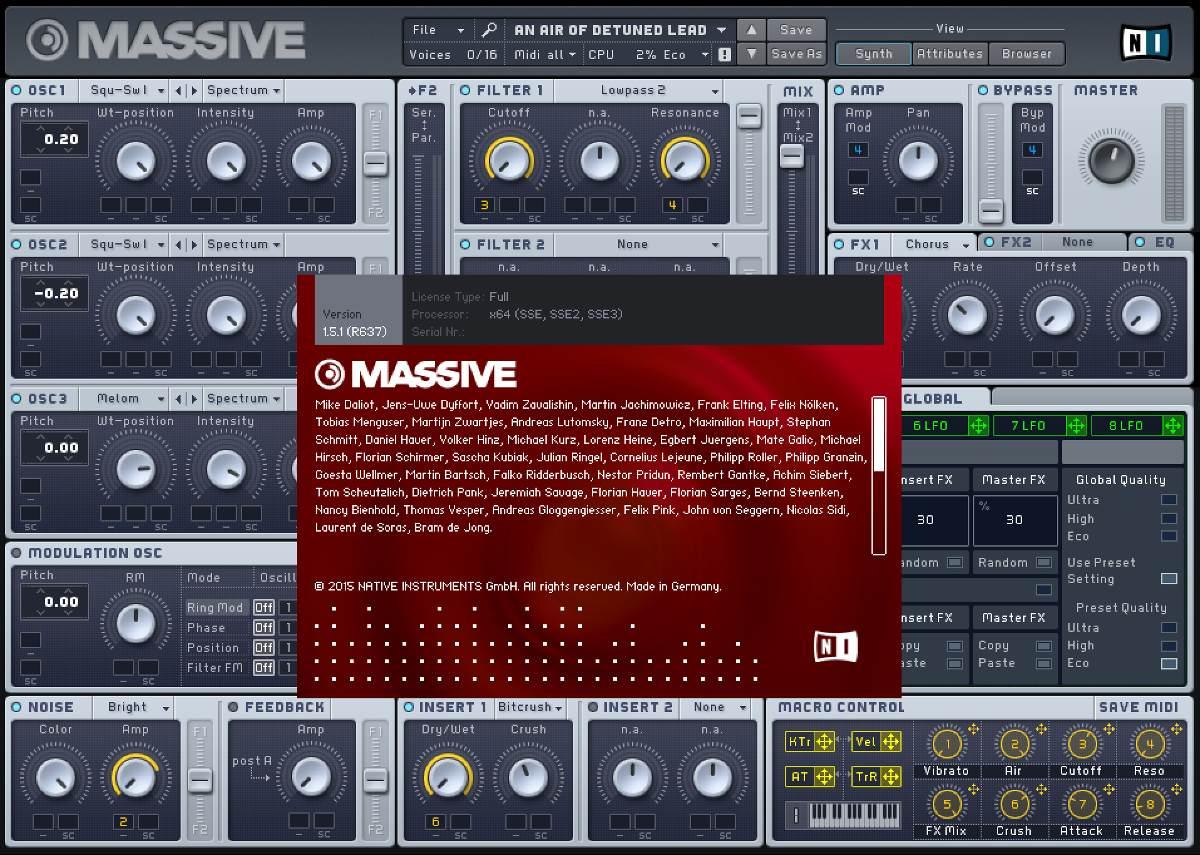 Massive vst mac   Massive Synth Sampler, Free Synth Presets plugin
