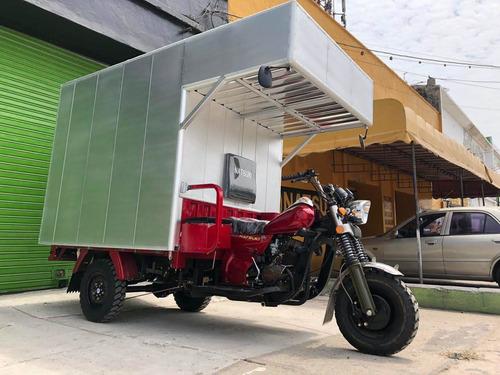 natsuki motocarro con furgon 600kg doble