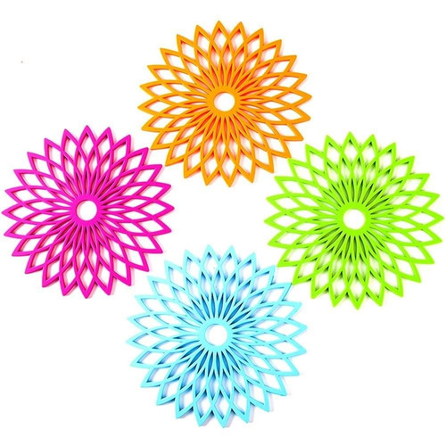 nattork multi-uso de diseño de flores trivet  + envio gratis