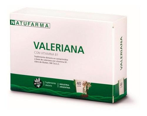 natufarma valeriana vitamina b1 suplemento dietario x40 comp