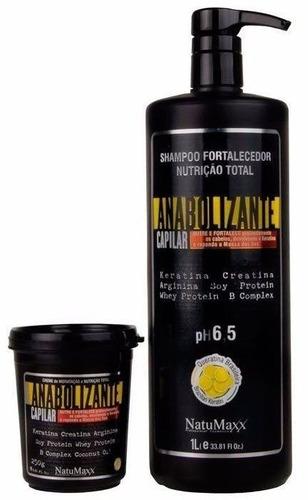 natumaxx - kit fortificante capilar shampoo fortalecedor...