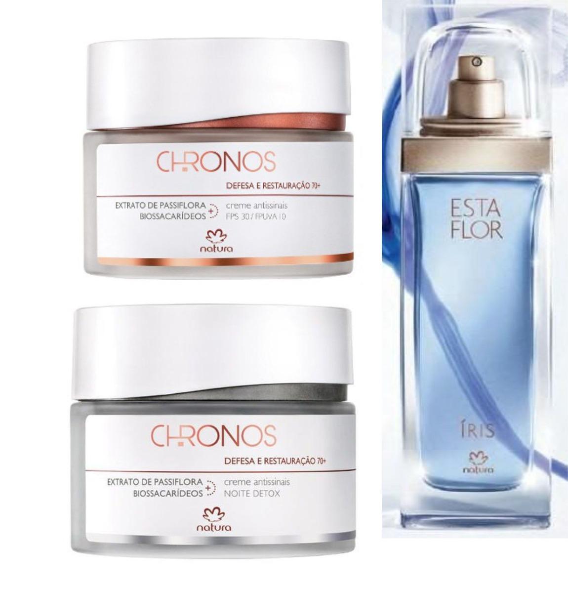 758982e0092 Natura Chronos 70+ Dia E Noite + Perfume Esta Flor Iris - R  189