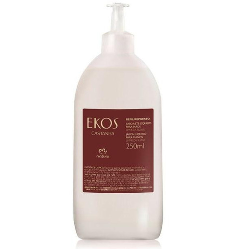 natura ekos - sabonete líquido para mãos - castanha (refil)