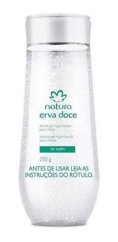 natura erva-doce - álcool gel para mãos - 70 inpm - 250g