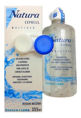 natura express 355 combo 4 liquido lentes contacto +estuche