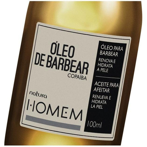natura homem - óleo de barbear - copaíba