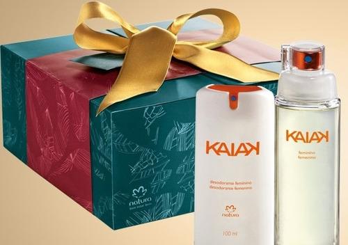 natura kaiak tradicional feminino 100ml + desodorante brinde