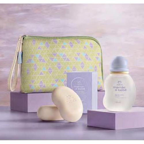 natura mamãe e bebê - kit colônia + sabonete em barras