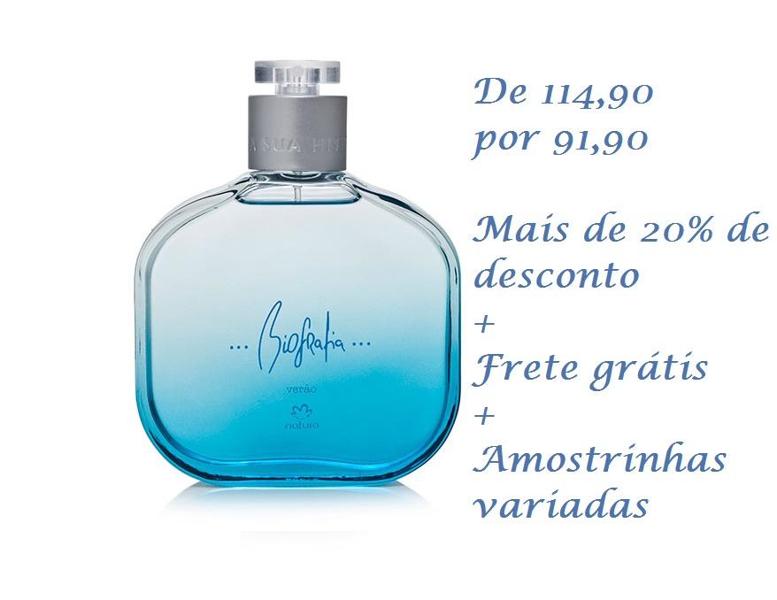 94ab6bf9a Natura Perfume Masculino Biografia Verão Ganha Brinde - R  91