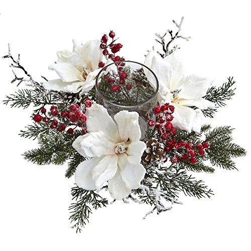 natural casi helado magnolia y berry arreglo artificial cand