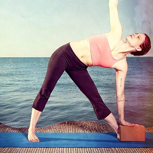 natural fitness cork yoga block  5.5 x 9 3.5-inch
