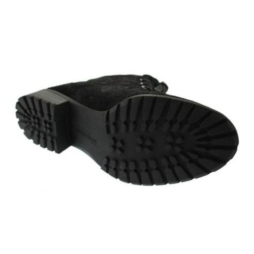 naturalizer botitas negras de combate de piel