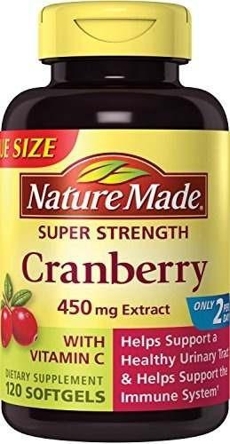 nature made super fuerza cranberry mas vitamina c softgels v