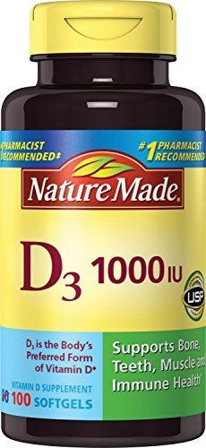 nature made, vitamin d3 1,000 i.u. liquid softgels, 100 c