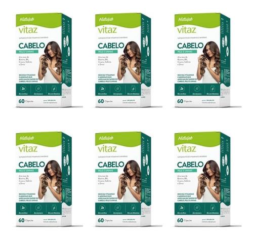naturelife vitaz cabelo pele e unhas 500mg c/60 (kit c/06)