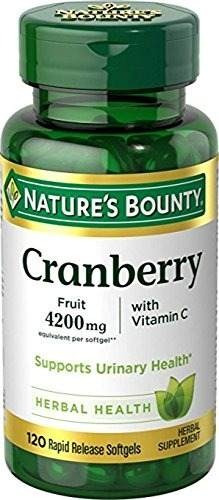 nature's bounty cranberry fruit 4200 mg, más vitamina c, 12
