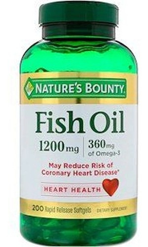 natures bounty fish oil omega 3 importa 1200 mg 200 cápsulas