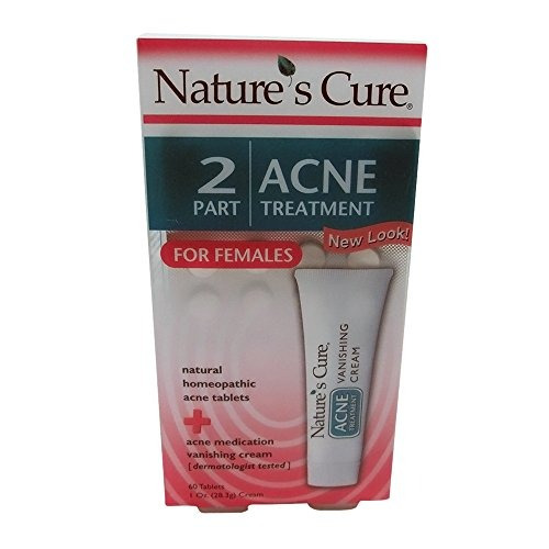 nature's cure 2 part acne treatment for females 60 tab