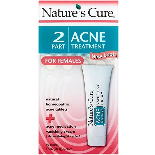 nature's cure 2 part acne treatment for females 60 tablet