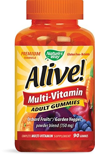 nature's way alive! ® adult gummy multivitaminas, frutas y