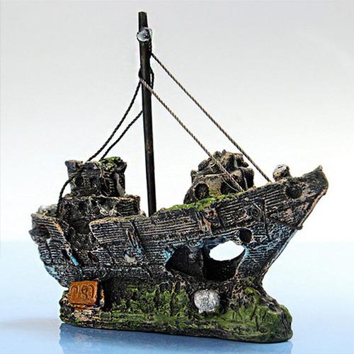 naufragio para acuario, hermoso diseño!