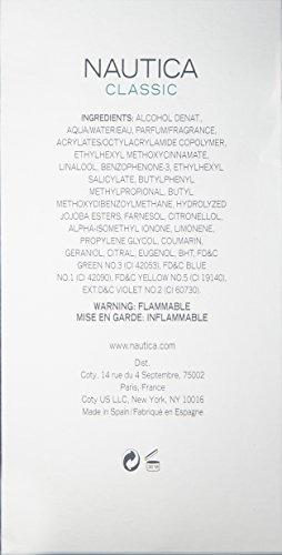 nautica classic for men de nautica 3.4 oz 100ml edt spray