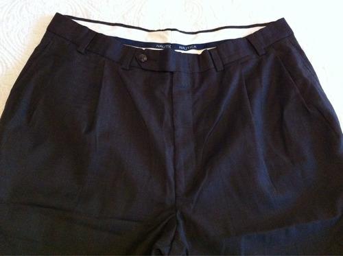 nautica pantalón de vestir café varón 38w x 32l