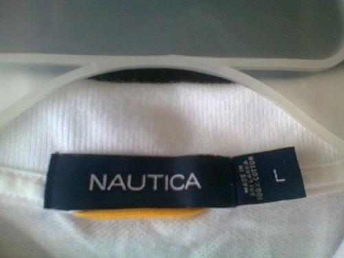 nautica playera  01 original  t-l  blanca