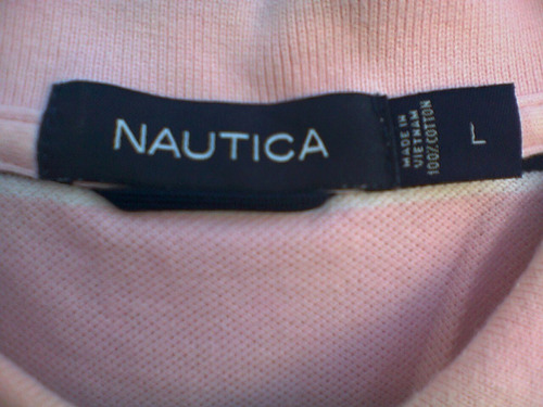nautica playera  04 original  t-l rosa