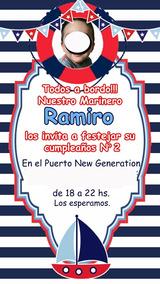 Nautico Marinero Tarjeta Invitación Digital Whatsapp