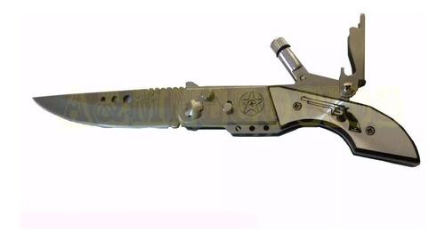 navaja  automatica camping diseño revolver