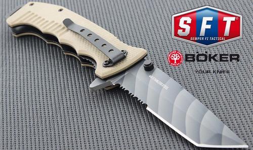 navaja böker grey skull - semper fi tactical®