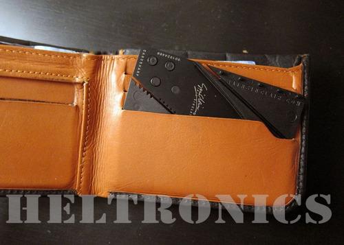 navaja cardsharp tamaño tarjeta de credito super filo import