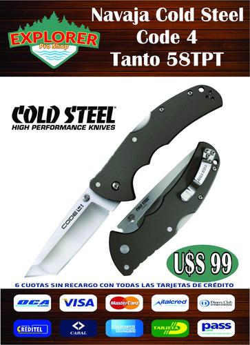 navaja cold steel code 4 tanto 58tpt