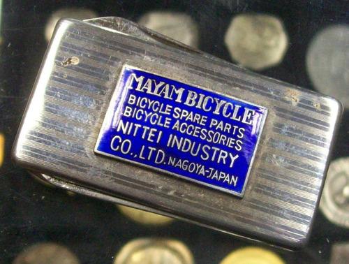 navaja con placa esmaltada de fabrica de bicicletas