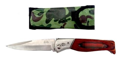 navaja cuchillo automático bayoneta 24 cm con funda  kaos 11