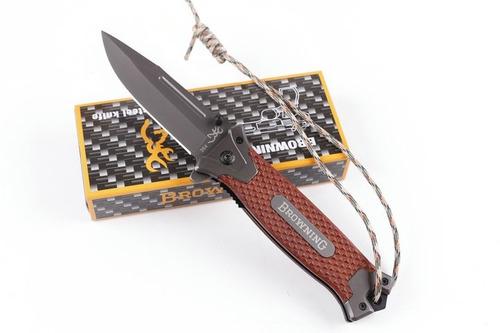 navaja cuchillo browning  caza supervivencia camping