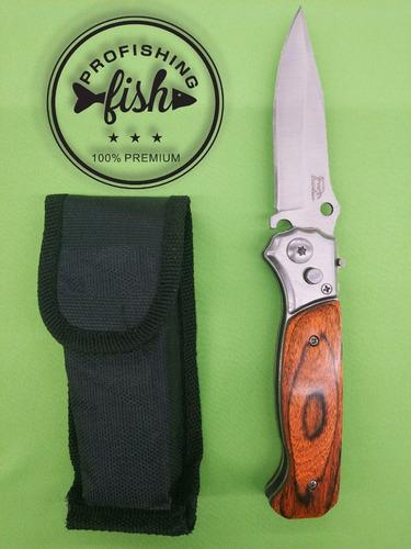 navaja cuchillo mango de madera mod a práctica