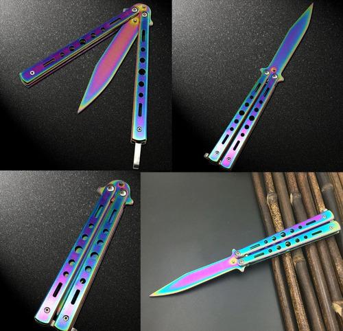 navaja cuchillo mariposa pro model arco iris counter strike
