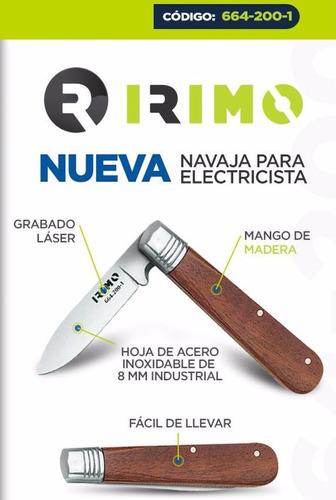 navaja electricista irimo 664-200-1 inox 8 cm profesional