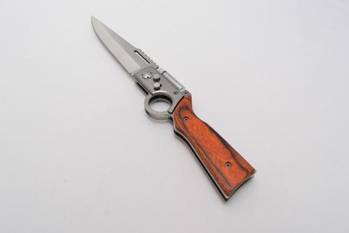 navaja forma rifle lampara led estuche cuchillo pequeña 15cm