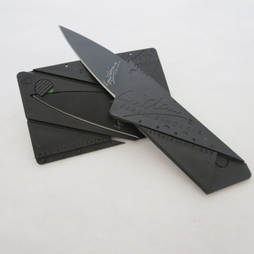 navaja tipo tarjeta de credito portatil cuchillo oculto