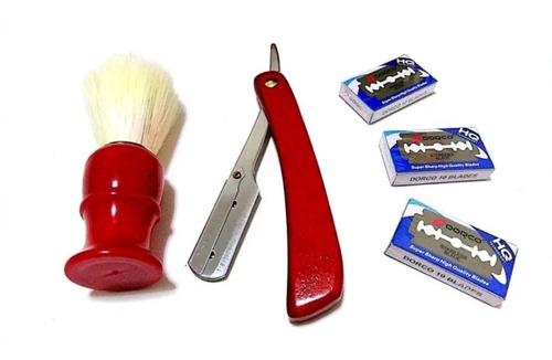 navajas de afeitar clásicas, rasurar barba, espuma, gel, etc