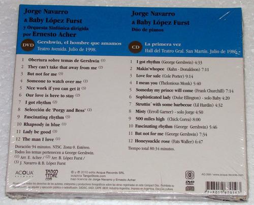 navarro acher lopez furst gershwin cd+ dvd sellado argentino