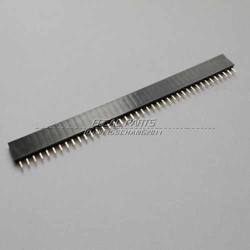 nave de 20pcs 2,54 mm 40 pin hembra sola fila pin header