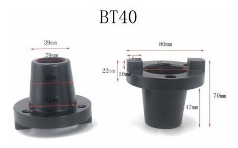 nave de bt40 cnc herramienta soporte redondo y cuadrado apre