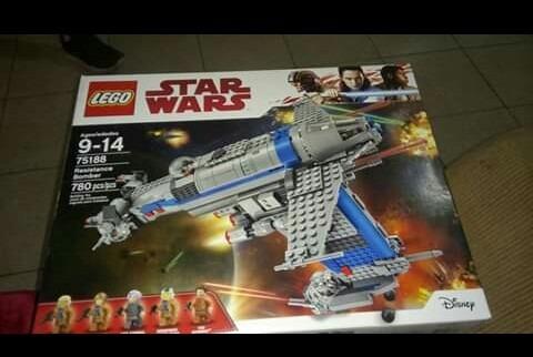 nave de stars wars. bombardero de la resistencia.