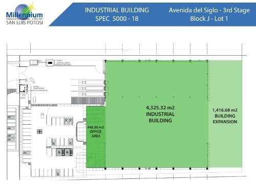 nave industrial en renta en millenium zona industrial